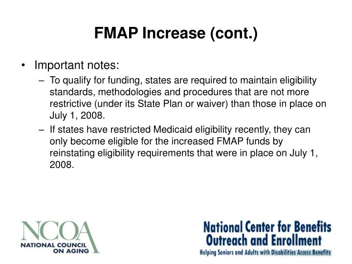 FMAP Increase (cont.)