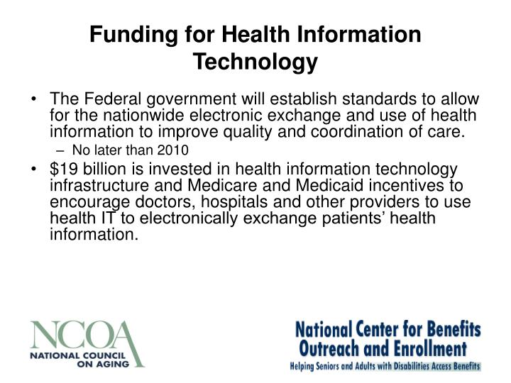 Funding for Health Information Technology