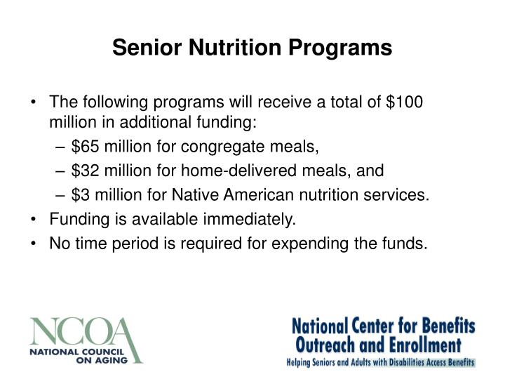Senior Nutrition Programs
