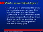 what is an acccredited degree