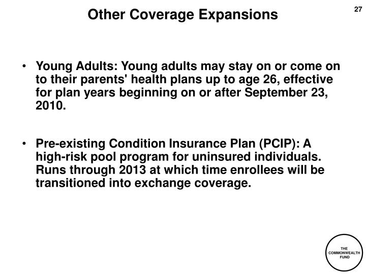 Other Coverage Expansions
