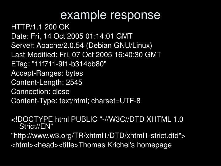 example response