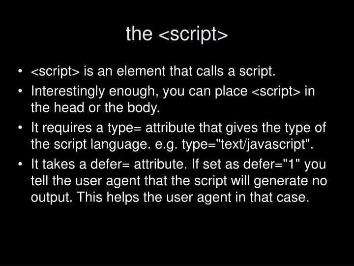 the <script>