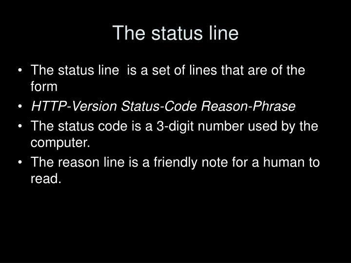 The status line
