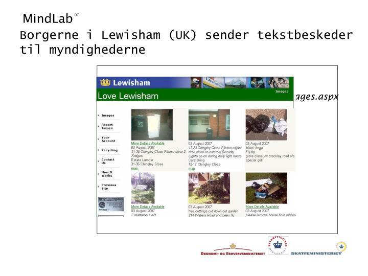 Borgerne i Lewisham (UK) sender tekstbeskeder til myndighederne