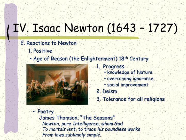 a comparison of works between john locke and isaac newton Sir isaac newton was born on january 4, 1643 an english physicist, mathematician, astronomer, and natural philosopher, newton was also an alchemist and theologian along with einstein, newton is considered one of the most influential scientists in history.