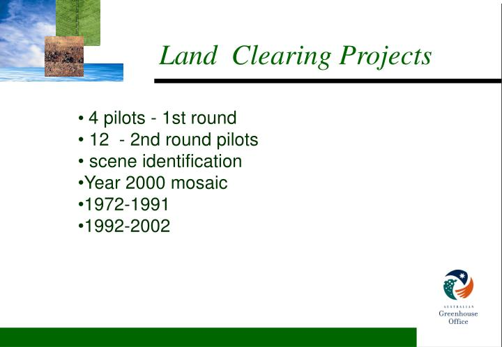 Land clearing projects