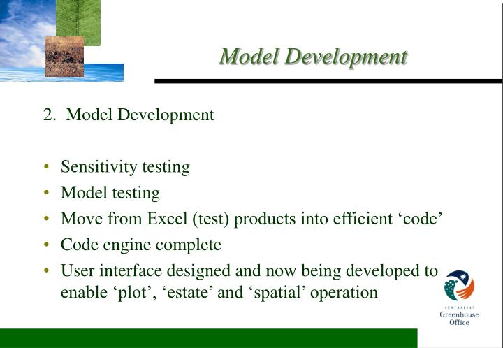 2.  Model Development