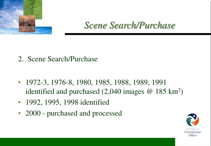 2.  Scene Search/Purchase