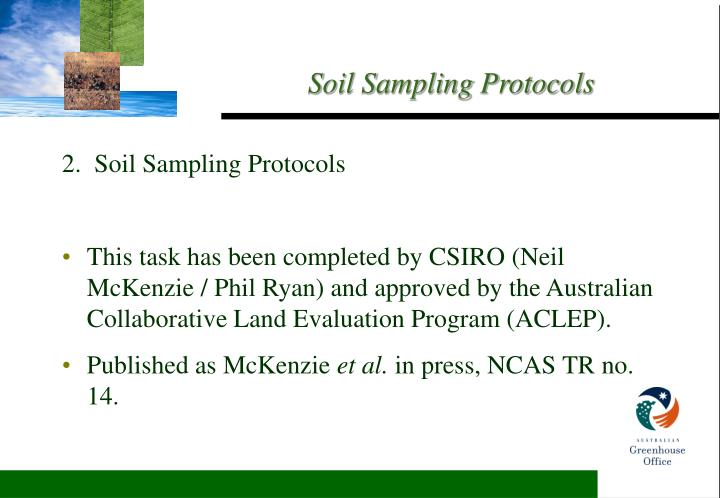 2.  Soil Sampling Protocols