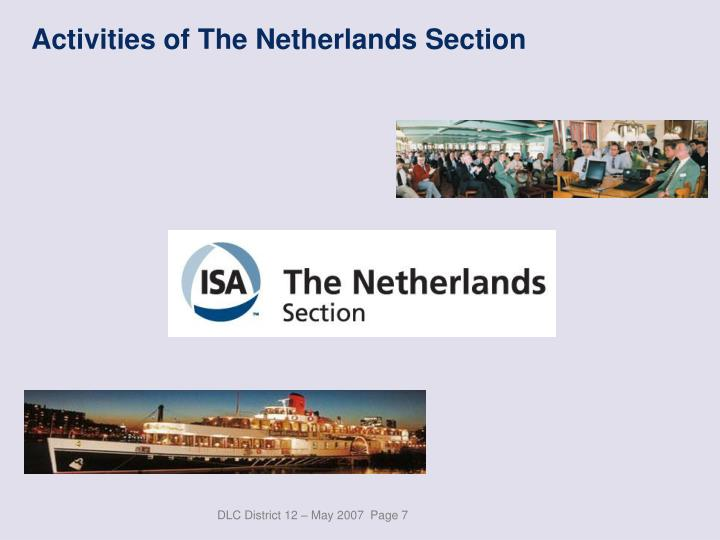 Activities of The Netherlands Section