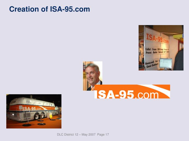 Creation of ISA-95.com
