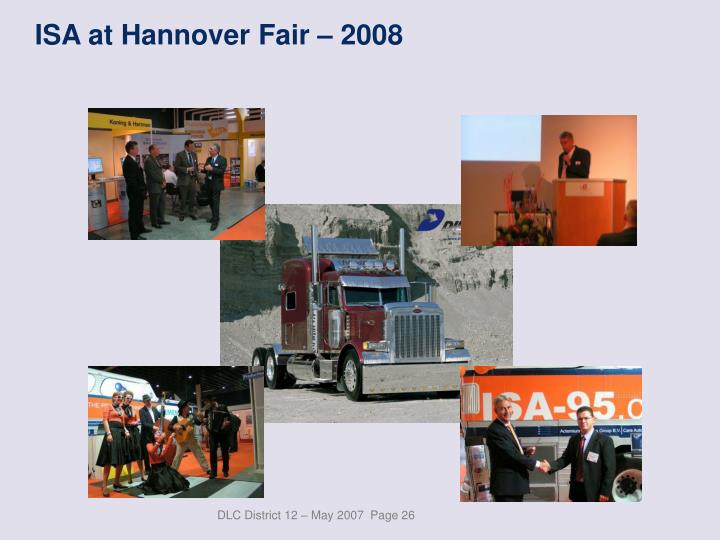 ISA at Hannover Fair – 2008