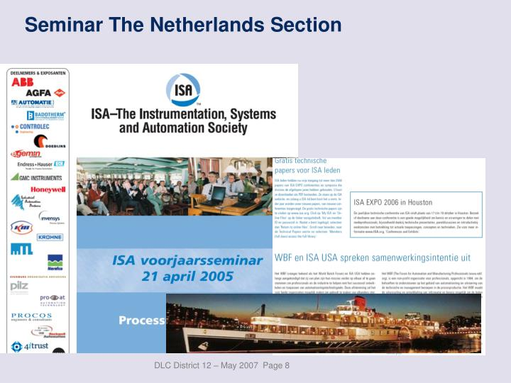 Seminar The Netherlands Section