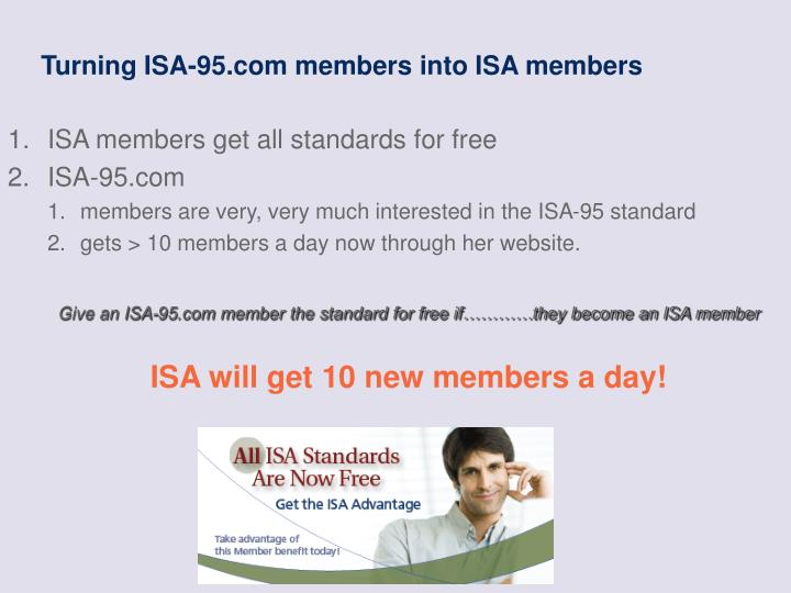 Turning ISA-95.com members into ISA members