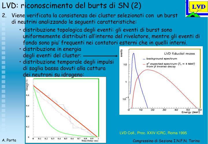 LVD: riconoscimento del burts di SN (2)