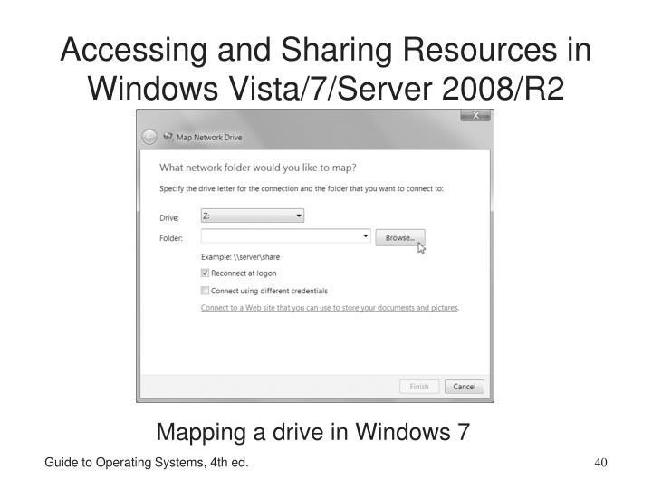 Accessing and Sharing Resources in Windows Vista/7/Server 2008/R2
