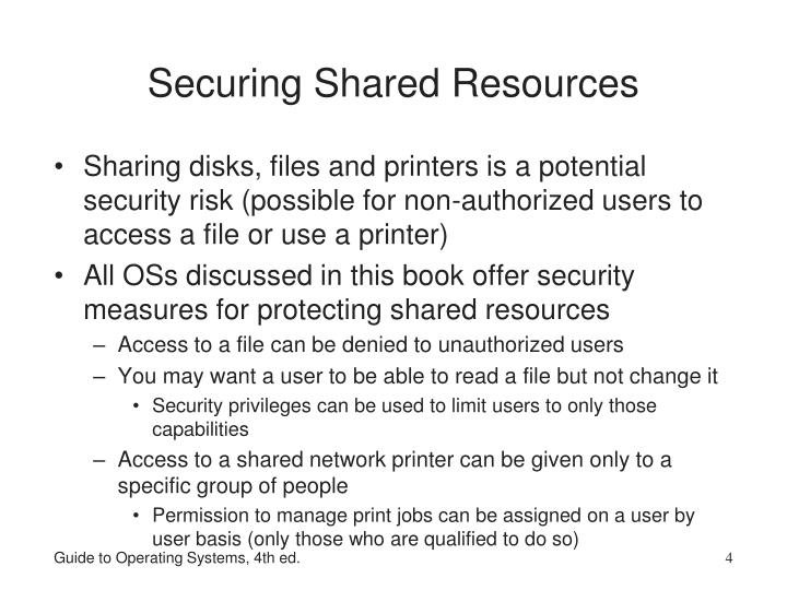 Securing Shared Resources