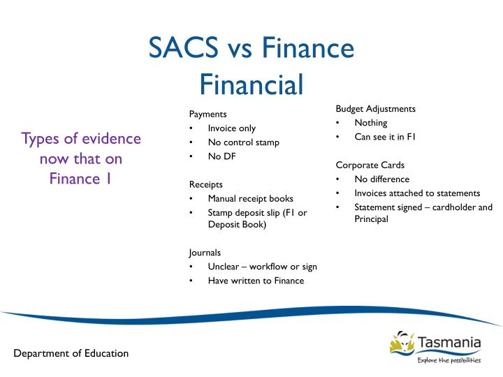 SACS vs Finance