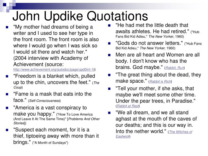 John Updike Quotations