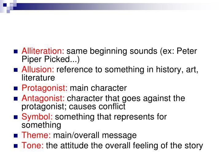Alliteration: