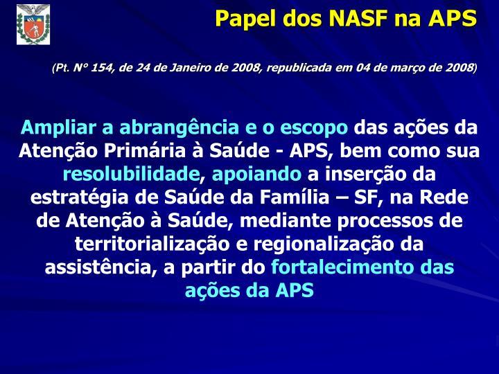 Papel dos NASF na