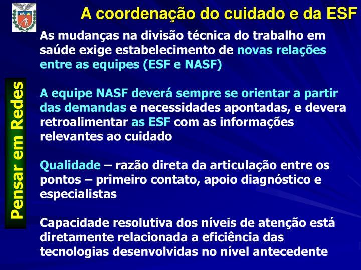 A coordenação do cuidado e da ESF