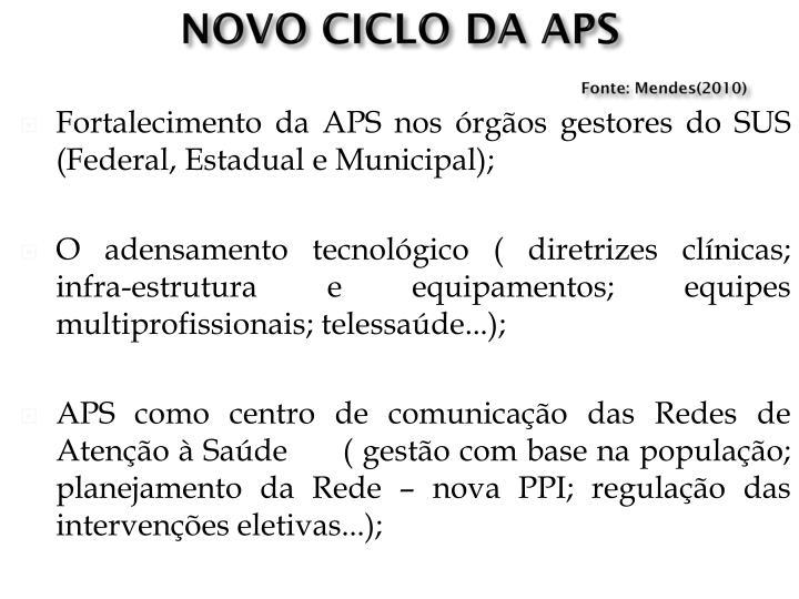 NOVO CICLO DA APS