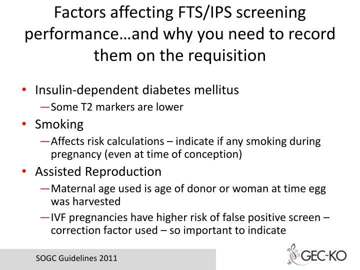 Factors affecting FTS/IPS screening performance…and why you need to record them on the requisition