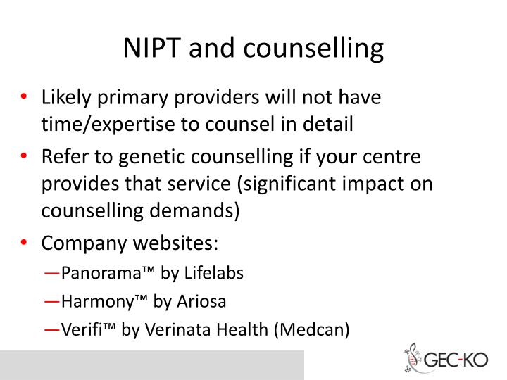 NIPT and counselling