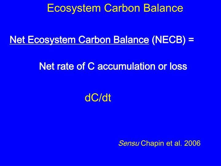 Ecosystem Carbon Balance