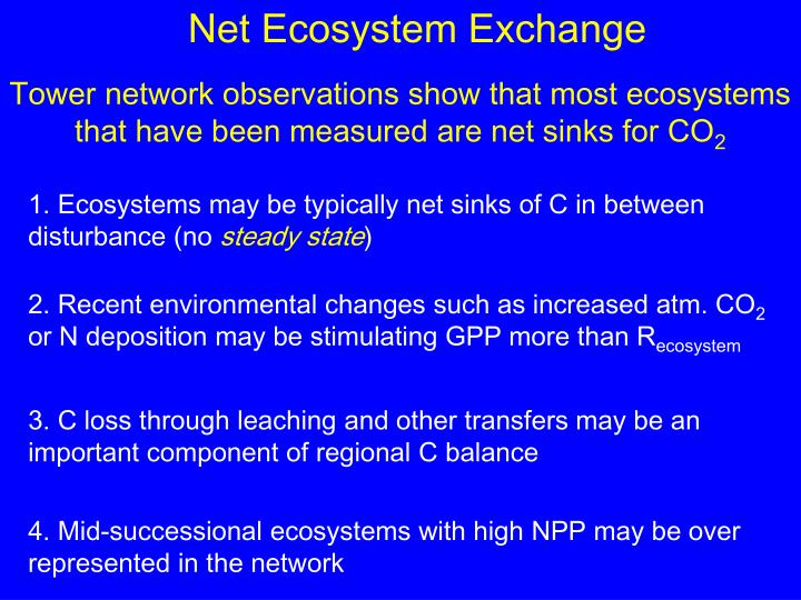 Net Ecosystem Exchange