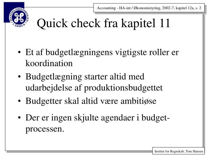 Et af budgetlægningens vigtigste roller er koordination