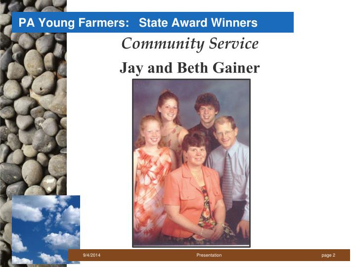 Pa young farmers state award winners