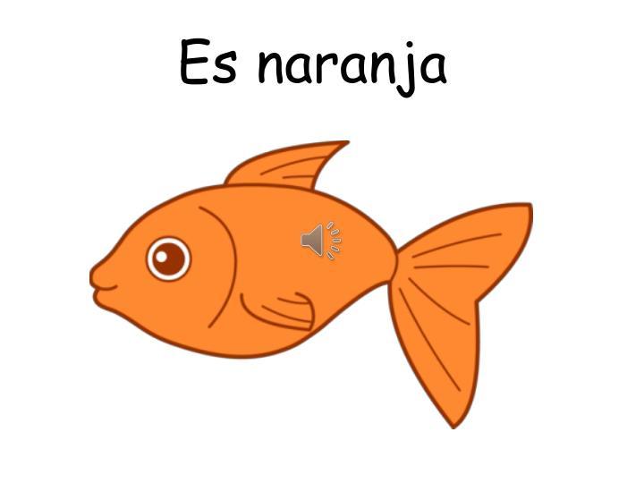 Es naranja