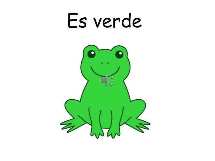 Es verde