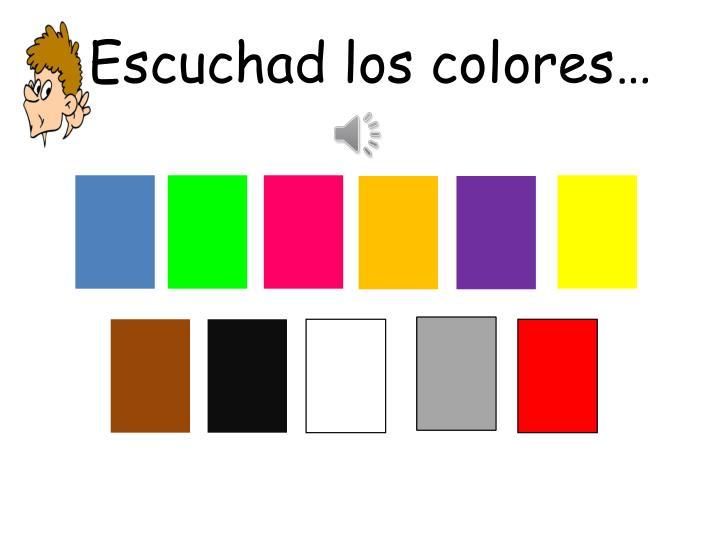 Escuchad los colores…