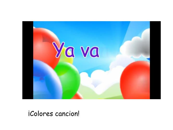 ¡Colores cancion!