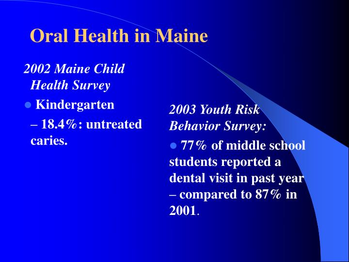 2002 Maine Child Health Survey
