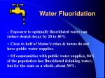water fluoridation