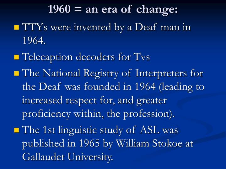 1960 = an era of change: