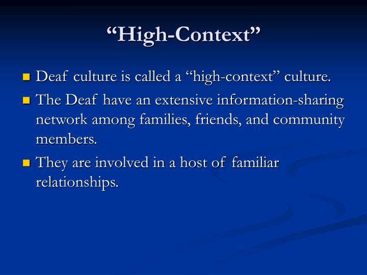 """""""High-Context"""""""