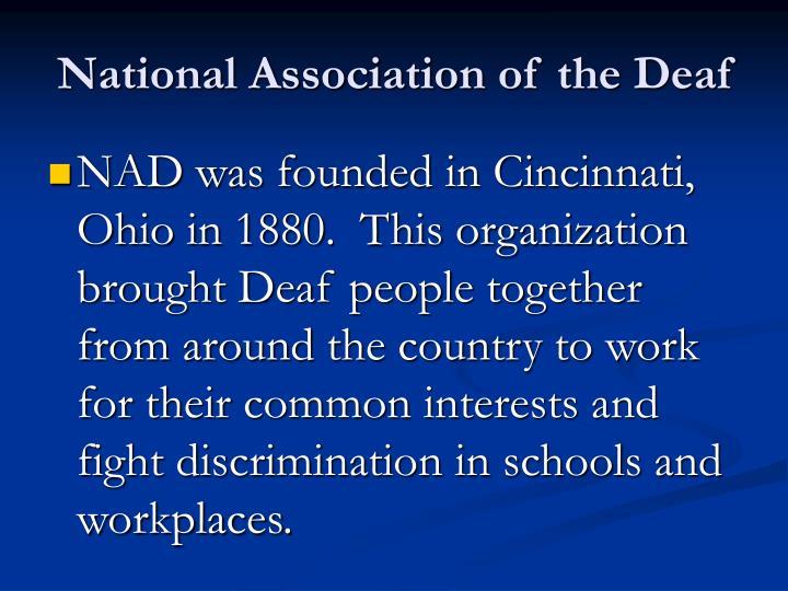 National Association of the Deaf
