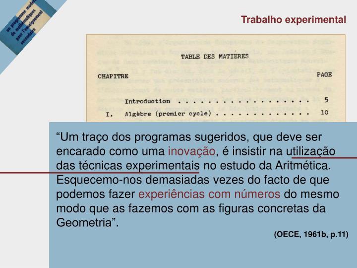 """""""Um traço dos programas sugeridos, que deve ser encarado como uma"""