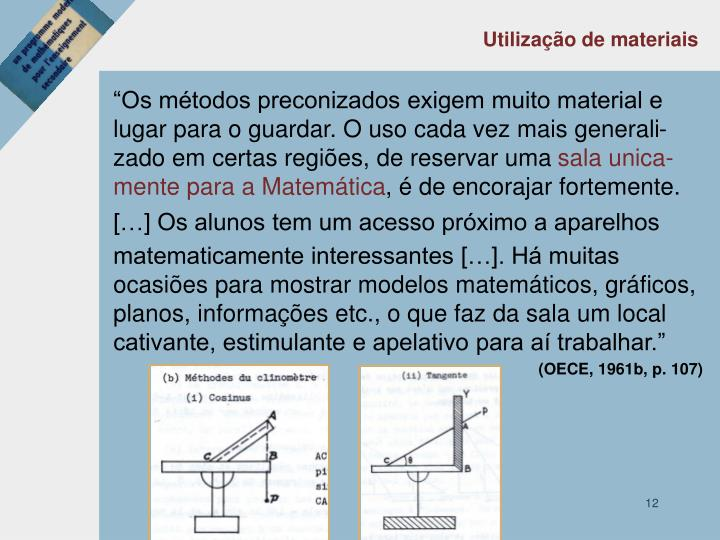 Utilização de materiais