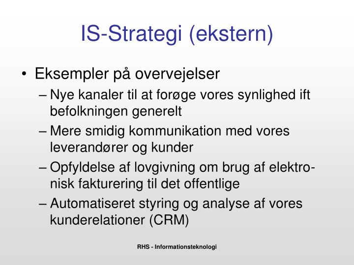 IS-Strategi (ekstern)