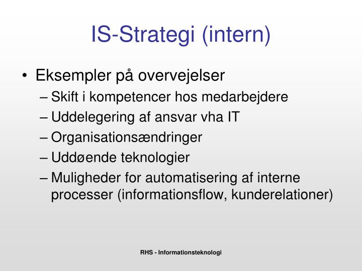IS-Strategi (intern)