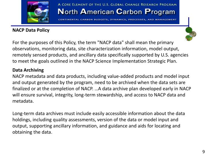 NACP Data Policy
