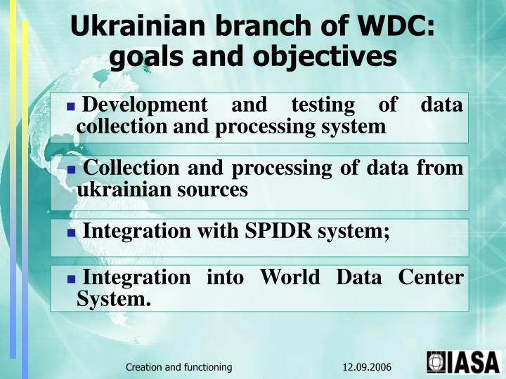 Ukrainian branch of WDC: