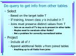 do query to get info from other tables